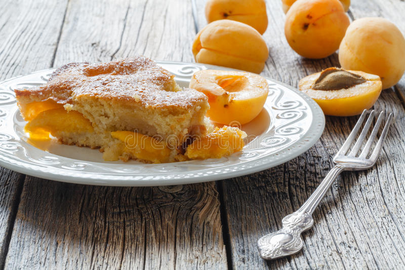 Honey cake with apricots, apricot pie stock images