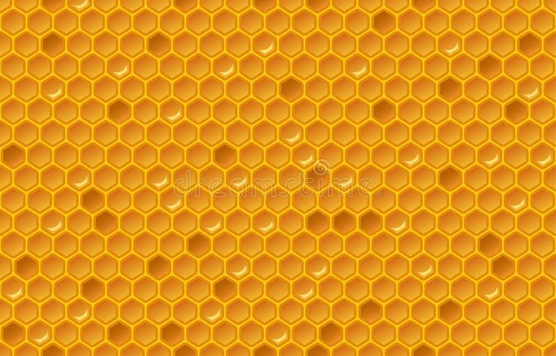 Honey Comb Pattern illustration de vecteur