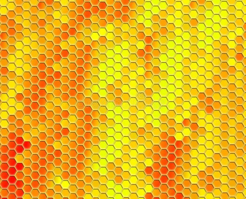 Honey comb pattern background royalty free illustration