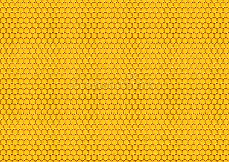 Honey Comp Pattern Royalty Free Stock Photos