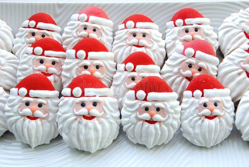 Honey Cookies en un fondo blanco, Santa Claus formó fotografía de archivo libre de regalías