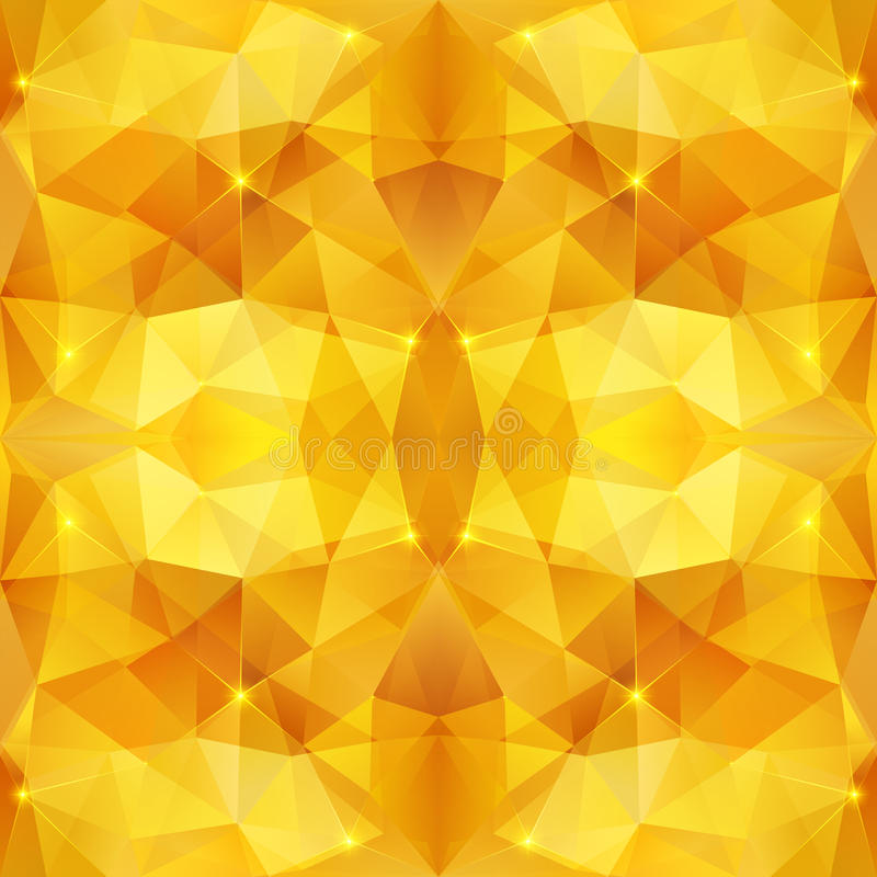 Honey crystal vector abstract pattern royalty free illustration