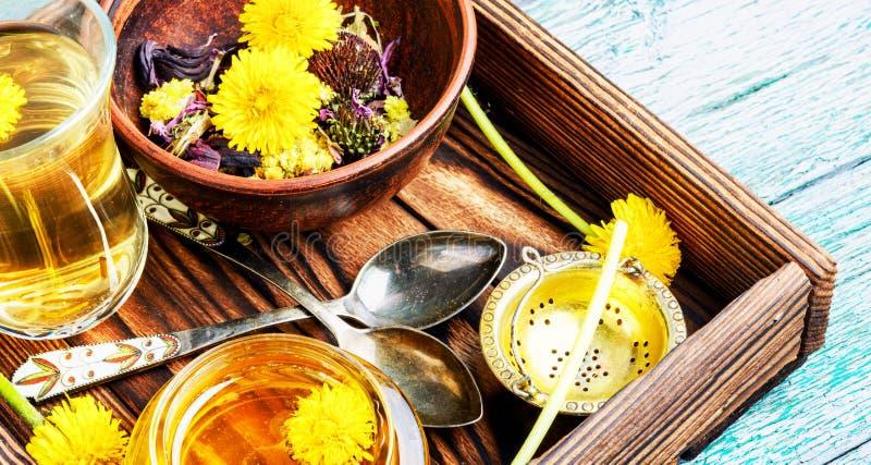Honey from dandelion flowers royalty free stock photo