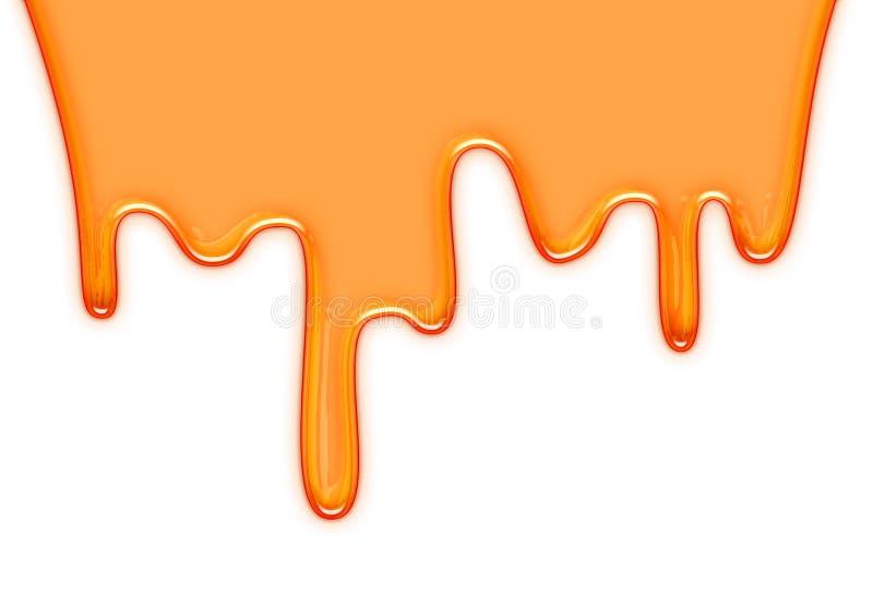 Honey drip stock illustration