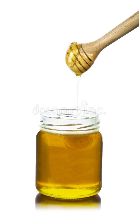 honey dripping  stock image