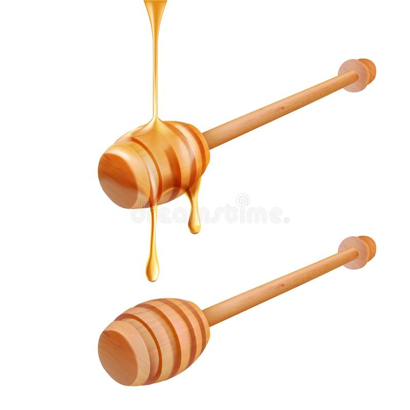 Honey dripping  on white background vector illustration