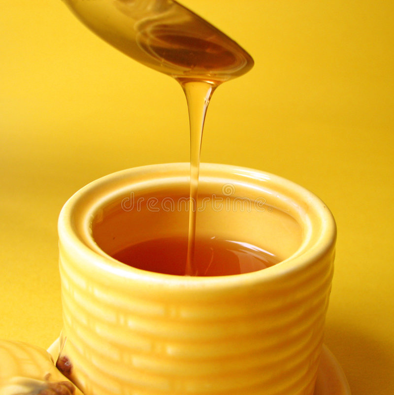 Honey drizzle stock image