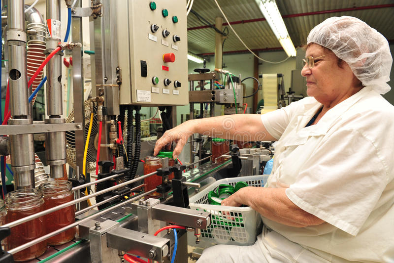 Honey Factory - Fertigungsstraße lizenzfreies stockfoto
