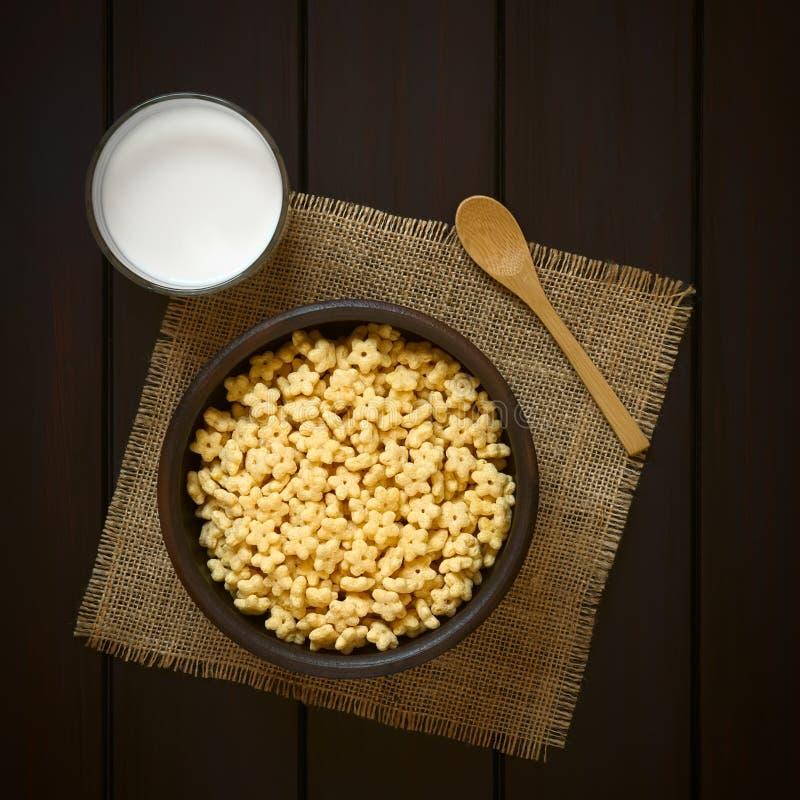 Honey Flavored Breakfast Cereal imagem de stock royalty free