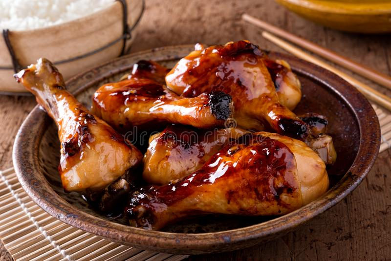 Honey Garlic Chicken fotografia stock