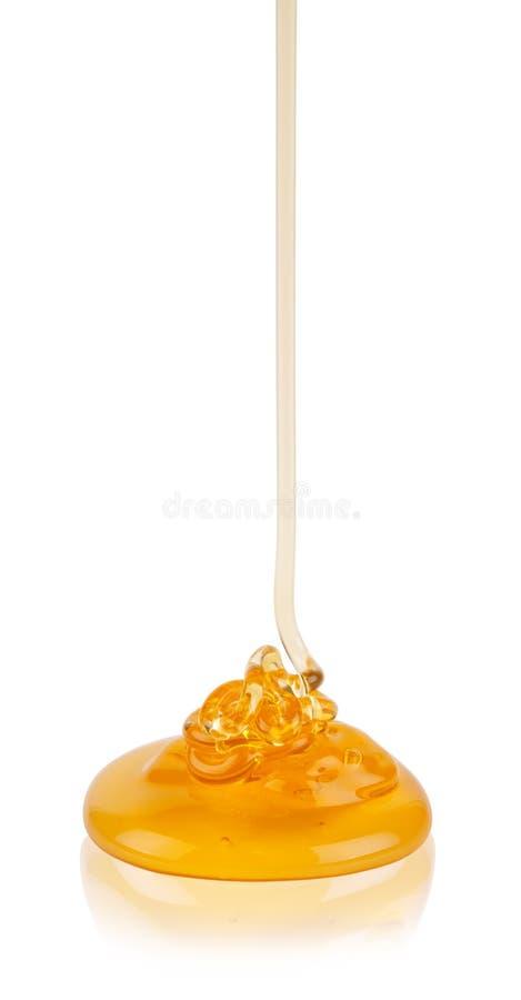 Honey. An golden honey drop royalty free stock photo