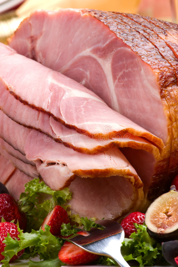 Download Honey ham stock photo. Image of appetizer, food, close - 6408226