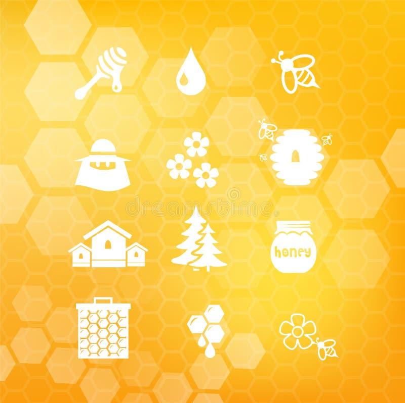 Honey Icon Set Illustration Stock Illustration