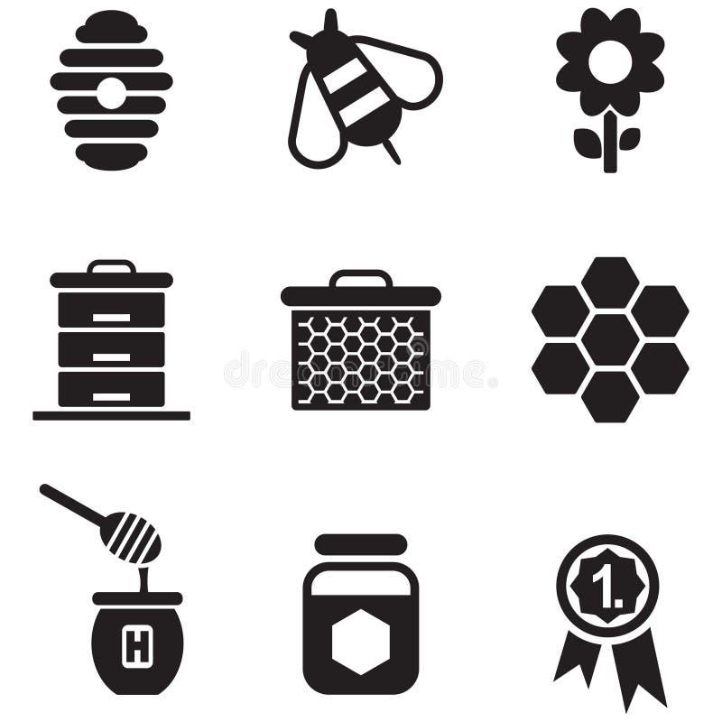 Honey Icons illustration de vecteur
