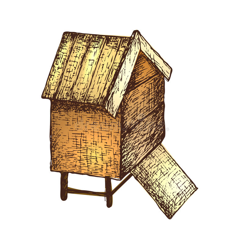 Honey Ink Sketch Illustration Stock Vector