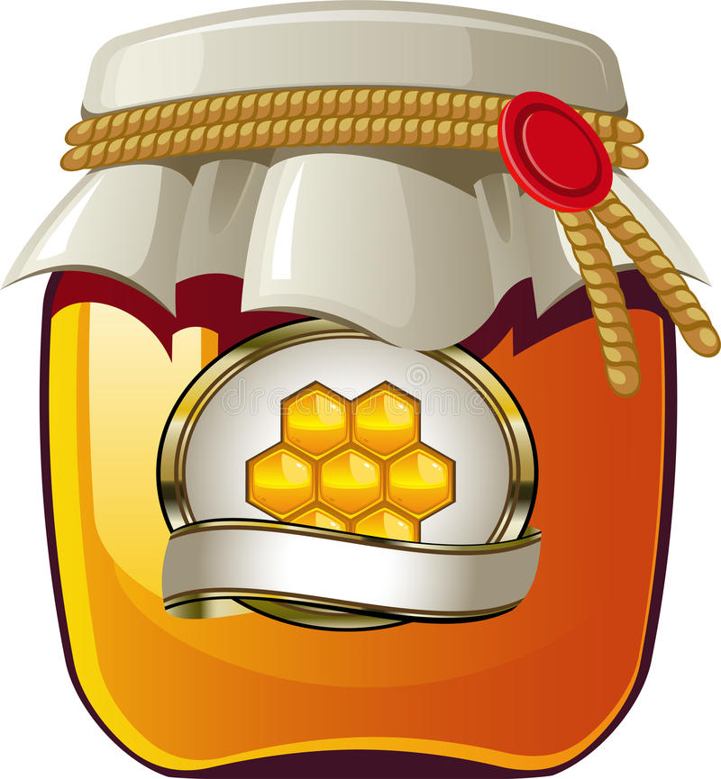 Honey jar royalty free illustration