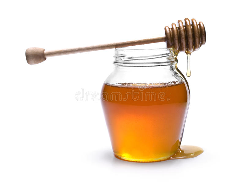 Honey jar stock images
