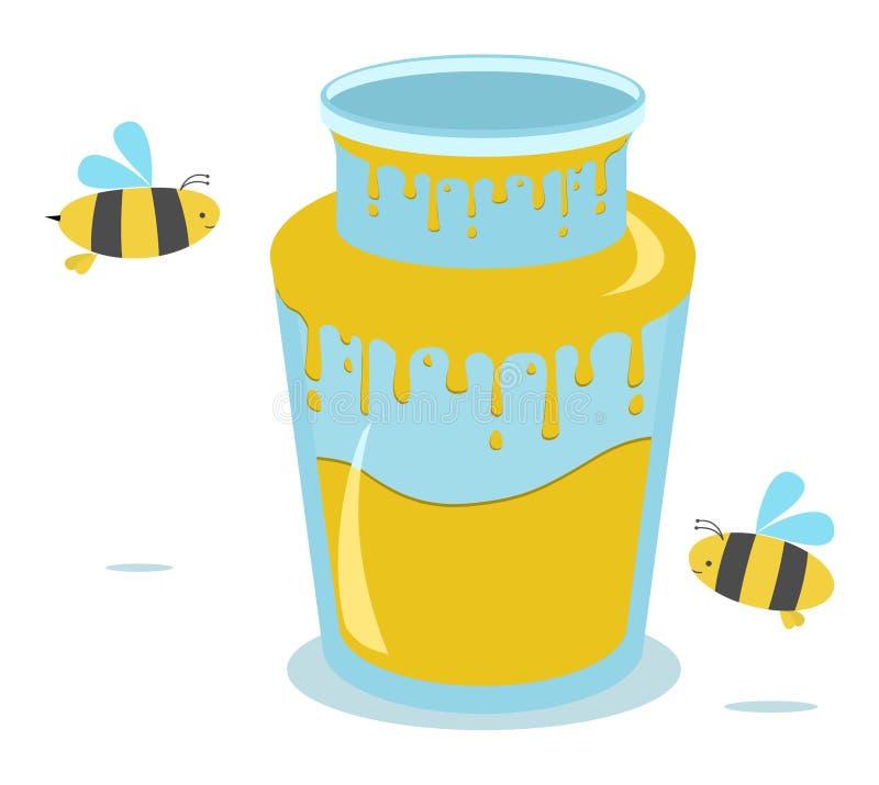 Download Honey jar stock vector. Image of organic, life, summer - 20960016