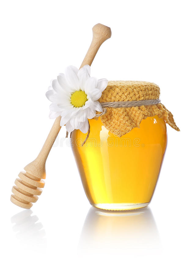 Honey jar royalty free stock photo