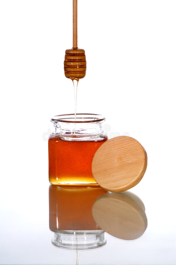 Honey jar royalty free stock images