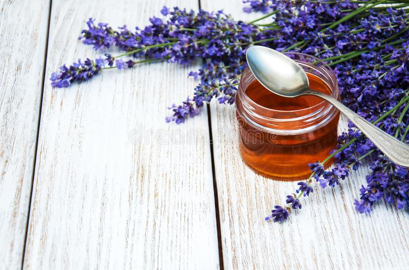 Honey and lavender royalty free stock photos