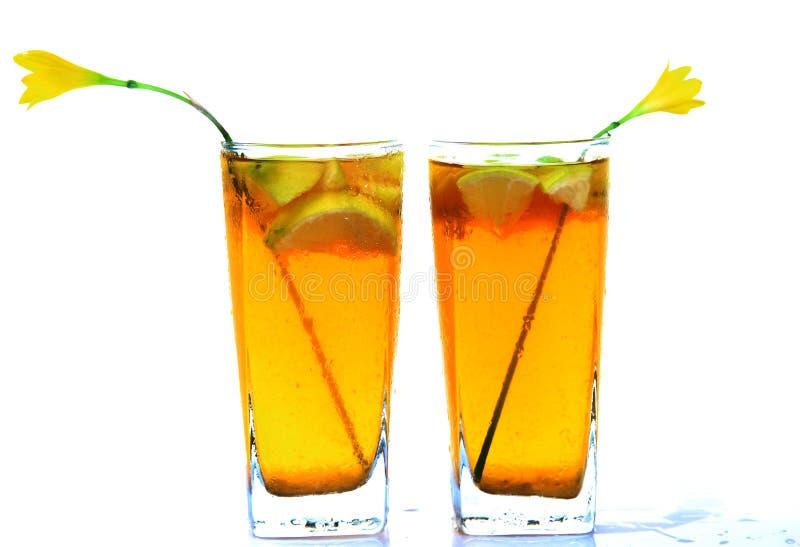 Honey and lemon drink royalty free stock image