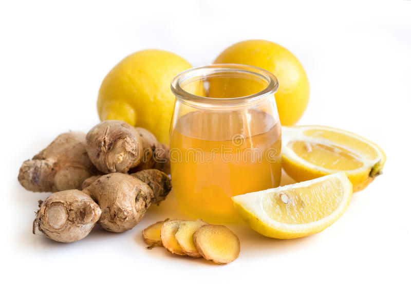 Honey, lemon and ginger royalty free stock image