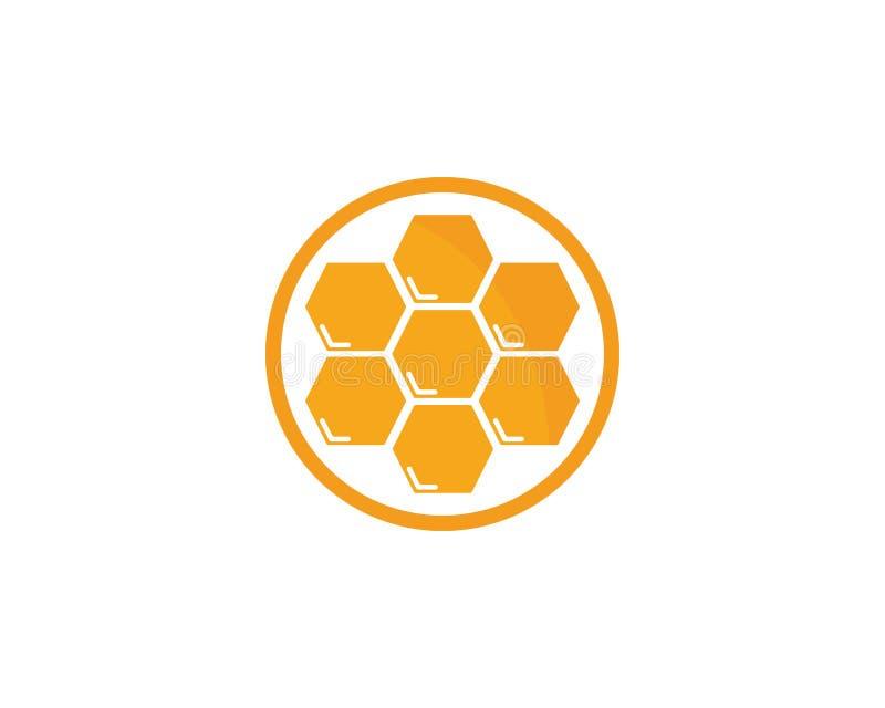 Honey Logo Template Design Vector, emblema, concetto di progetto illustrazione vettoriale