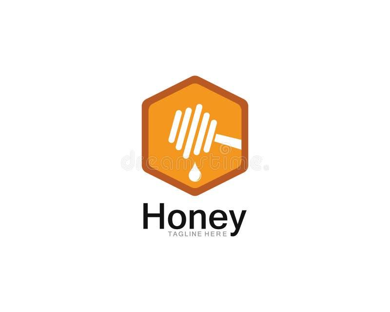 Honey Logo Template Design Vector, emblema, concetto di progetto royalty illustrazione gratis