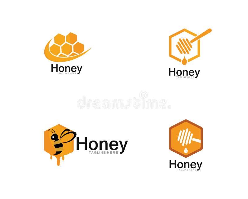 Honey Logo Template Design Vector, emblema, concetto di progetto illustrazione di stock