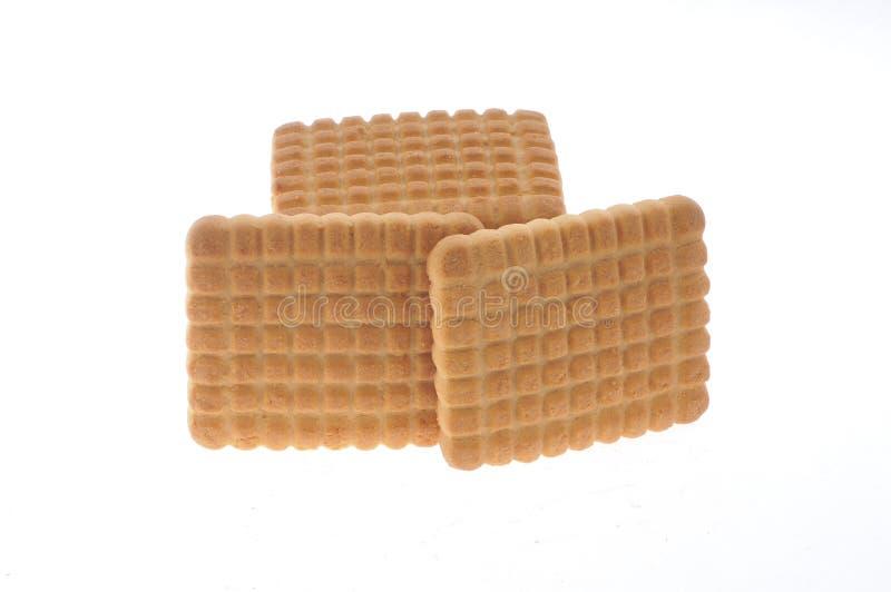 Honey,milk cookies isolated stock image