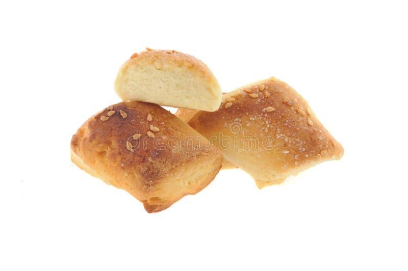 Honey,milk cookies isolated stock photo