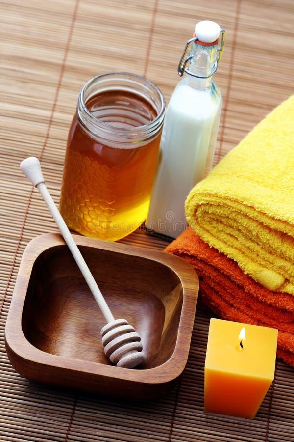 honey milk spa στοκ εικόνες με δικαίωμα ελεύθερης χρήσης