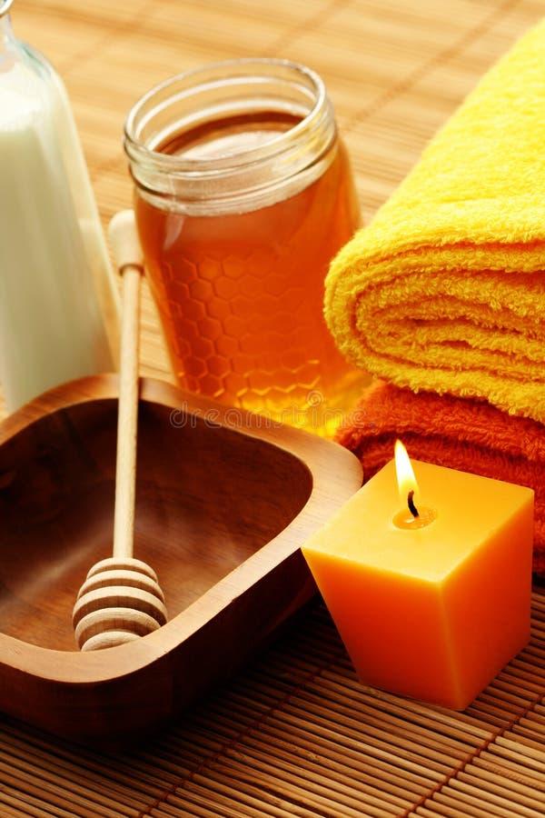 honey milk spa στοκ εικόνες