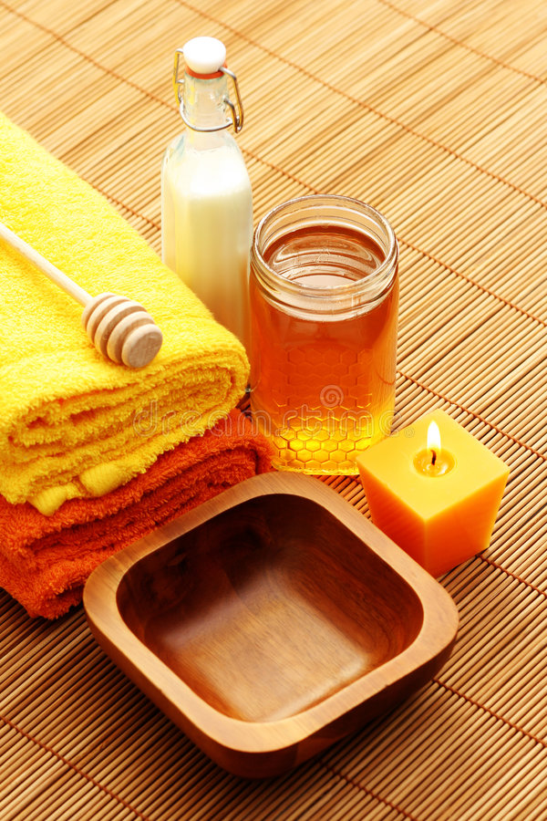 honey milk spa στοκ εικόνα