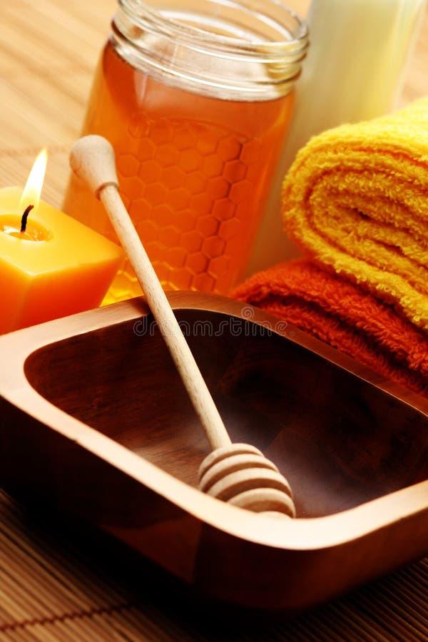 honey milk spa στοκ φωτογραφία με δικαίωμα ελεύθερης χρήσης