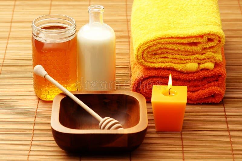 honey milk spa στοκ φωτογραφίες με δικαίωμα ελεύθερης χρήσης