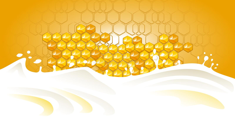Honey milk stock photos