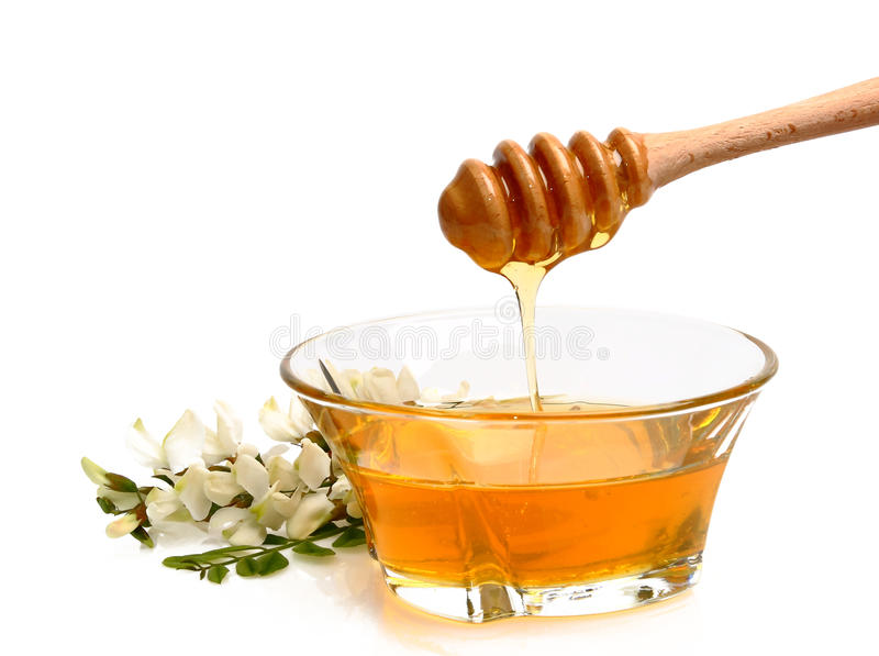 Honey - pouring stock images