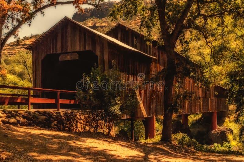 Honey Run Covered Bridge lizenzfreie stockfotografie