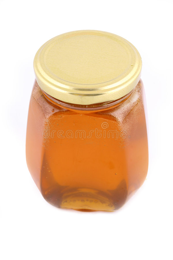 honey słoik fotografia stock