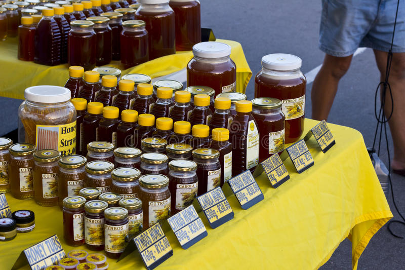 Download Honey For Sale On Street Market Table Stock Image - Image: 28273527