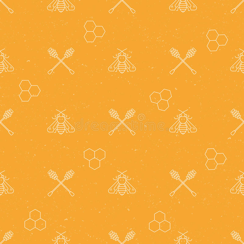 Honey Seamless Pattern royalty free illustration