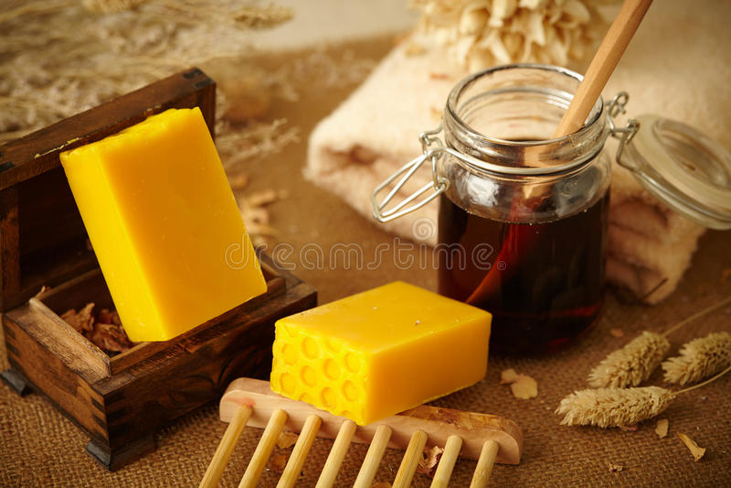 Honey Soap imágenes de archivo libres de regalías