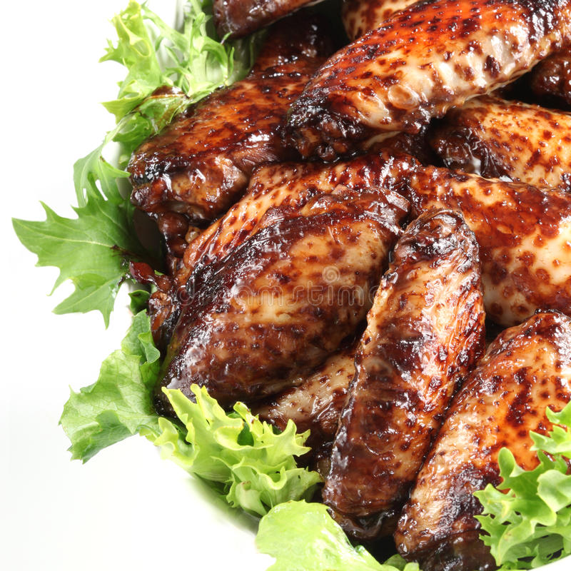 Honey Soy Chicken Wings stock images