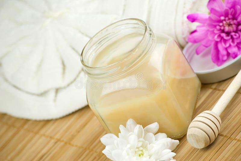 Honey spa royalty free stock image