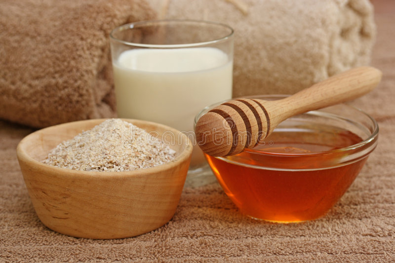 Honey spa stock images