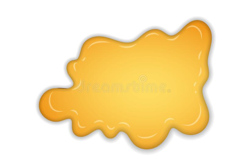 Honey splash. Yellow drip liquid isolated white background. 3D drop of sweet natural honey. Healthy organic nature food royalty free illustration