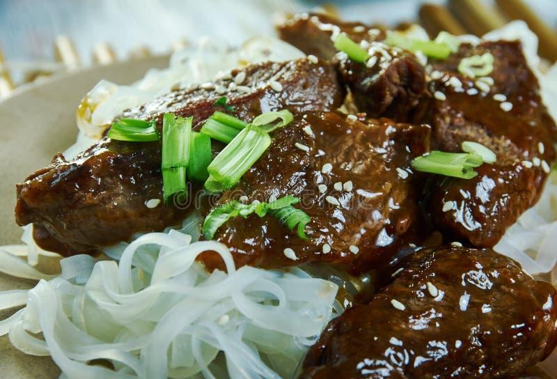 Honey Sriracha Mongolian Beef arkivfoto