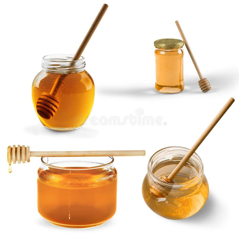 Honey. Syrup jar sweet food food glass nature stock images